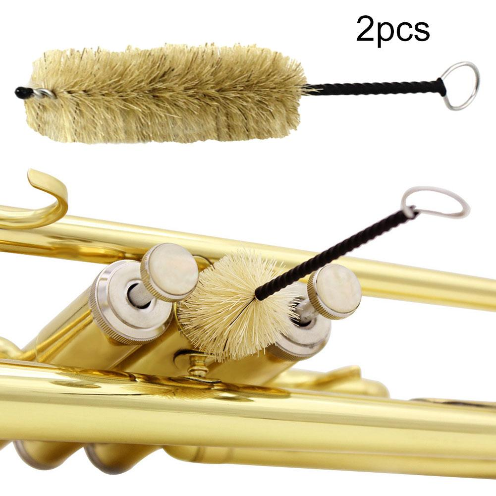 2Pcs Wind Instruments Mouthpiece Piston Cleaning Brush For Trumpet Clarinet New Chic