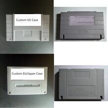 Cartão de jogo personalizado para snes 16 bit game console