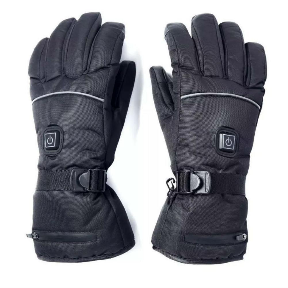 1 paire de gants chauffants électriques avec piles gants thermiques chauffants pour hommes et femmes cinq doigts hiver chauffe-mains ski glo