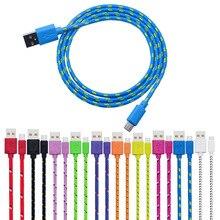 Новинка, Плетеный алюминиевый Micro USB кабель для передачи данных и синхронизации, внешний usb удлинитель для телефонов Android, мини usb