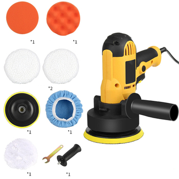 M14 220V Auto Polisher Waxing Tool Set 9pcs 700W Electric Car Sander Machine With 125mm Disc Power For Floor Furniture - discount item  32% OFF Power Tools