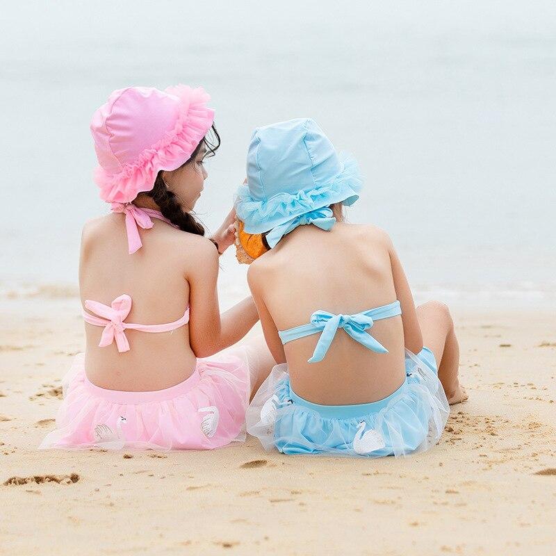 2019 New Style CHILDREN'S Swimwear GIRL'S Swimsuit Princess Bikini GIRL'S Split Skirt-Big Boy Bathing Suit