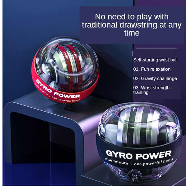 Strengthener Force Power Wrist Ball Gyroscope Spinning Wrist Rotor Gym Hand grip Exerciser Gyro Fitness Ball Muscle Relax 2