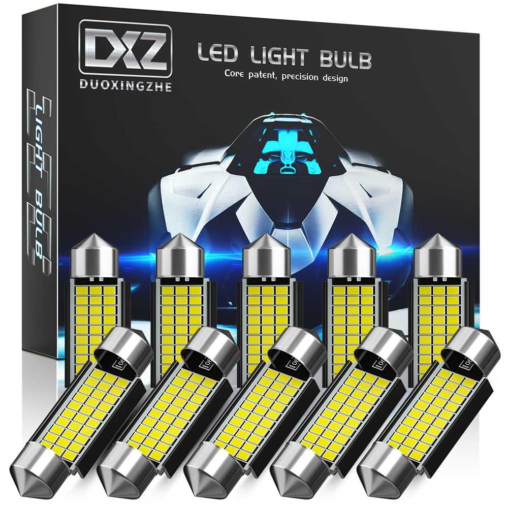 СВЕТОДИОДНАЯ Гирлянда DXZ C5W C10W светодиодный 31 мм, 36 мм, 39 мм, 41 мм, Canbus, для салона автомобиля, купольная лампа для чтения, освесветильник для но...