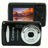 2,4 дюймов портативная цифровая мини-камера с высокой четкостью и аккумулятором 16 мегапикселей, черный TFT lcd Портативный