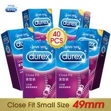 Durex preservativos 49mm tamanho pequeno ultra fino macio extra lubrificantes preservativos pênis para adulto artigos íntimos brinquedos sexuais para homem