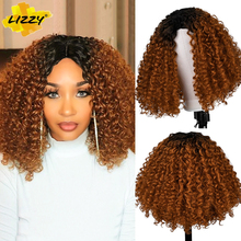 Short Hair Kinky Curly Bob Wig Soft Synthetic Water Wave Wigs For Black Women Ombre Glueless Natural Heat Resistant Cosplay Wig cheap Lizzyhair High Temperature Fiber Daily Use CN(Origin) 1 Piece Only 150 Average Size 102X