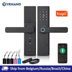 Биометрический замок отпечатков пальцев Tuya, умный замок безопасности с WiFi APP Пароль RFID разблокировка, дверной замок электронные отели