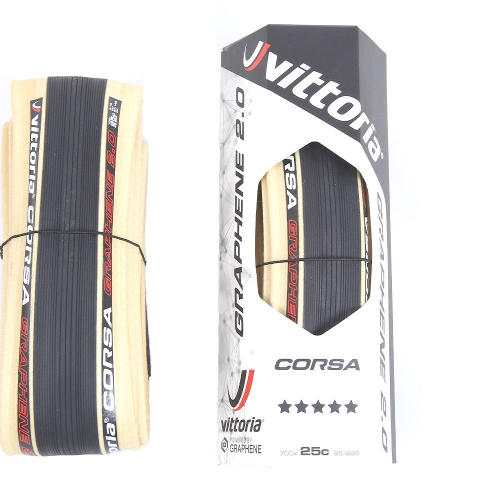2 Tires Pair w//Decal Vittoria Corsa G+ Competition Graphene 2.0 700 x 25 Black Tan 320 TPI Road Bike Clincher Tire