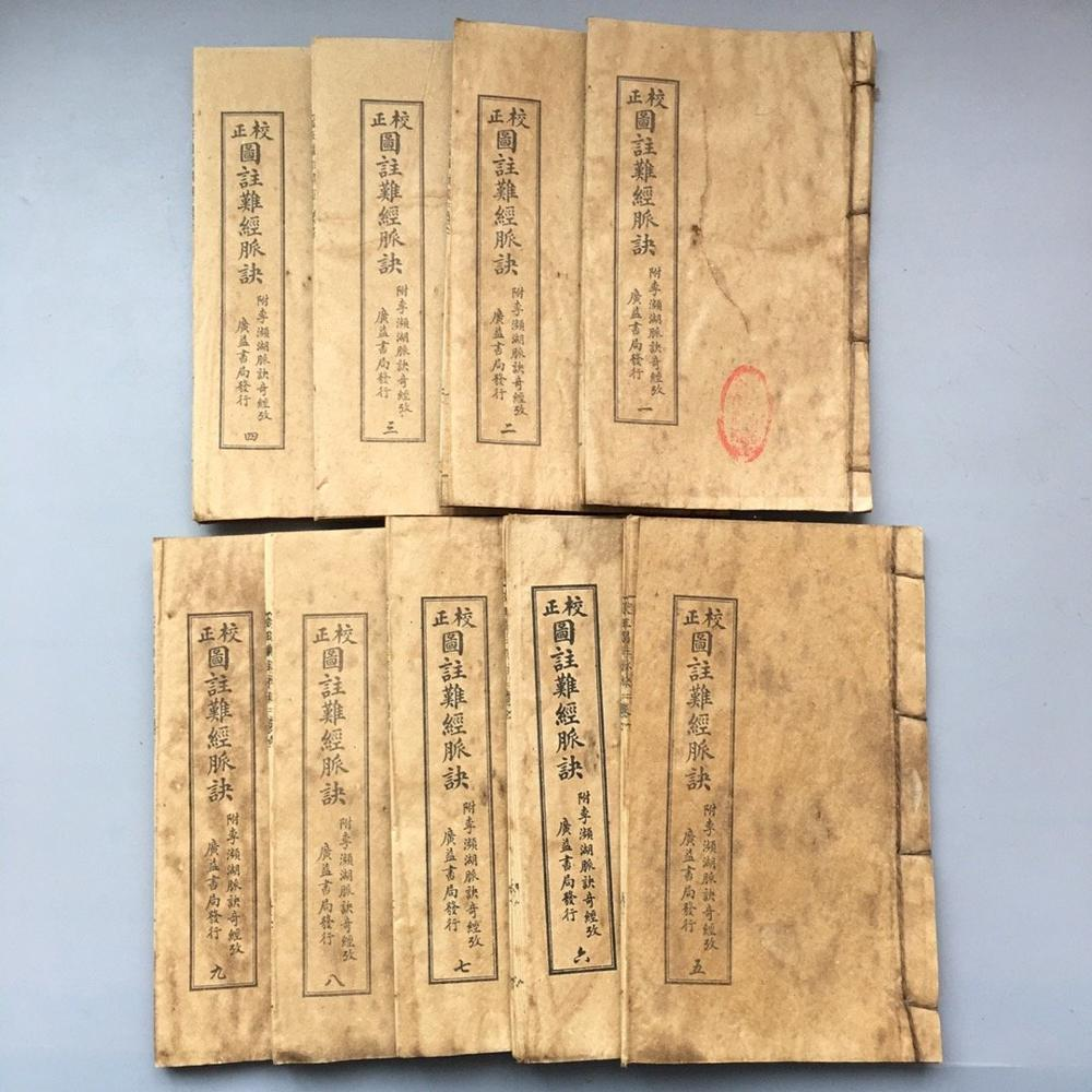China old thread stitching book 9  books of  Medical book|Statues & Sculptures| |  - title=