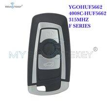 Remtekey Smart Car Key 2009 2010 2011 2012 for BMW 5 7 Series 3 Button 315mhz HUF662 Blade YGOHUF5662 remote key 315 433 868 mhz smart remote key 4 buttons for bmw 3 5 7 series cas4 system 2009 2010 2011 2012 2013 2014 2015 2016 kr55wk49863