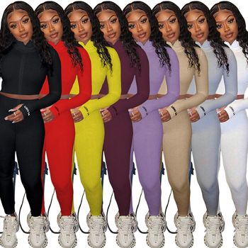 Women Outfit Splice 2 Two Piece Set Tracksuit Fall Clothes Crop Top And Pants Sweat Suit Lounge Wear Outfits 2 Pcs Matching Sets tie dye two piece set women tracksuit fitness summer casual outfits crop top stacked pants sweat suit lounge wear matching sets