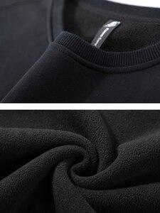 Image 5 - Pioneer Camp New Design Hoodies Men no Hood Winter Thick Streetewear O neck Causal 100% Cotton Sweatshirt Men AWY905025