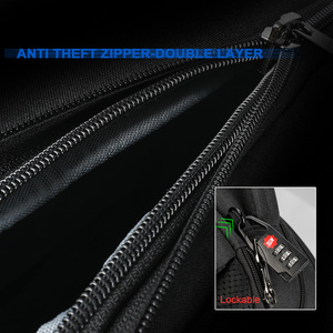 Image 5 - Tigernu New Man Backpack Waterproof Anti Theif Bagpack USB Recharging Multi layer Space Male Bag RFID Lining Travel Backpack