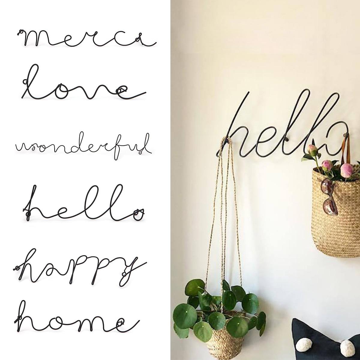 Wire Letters Home Decor Interior Wall