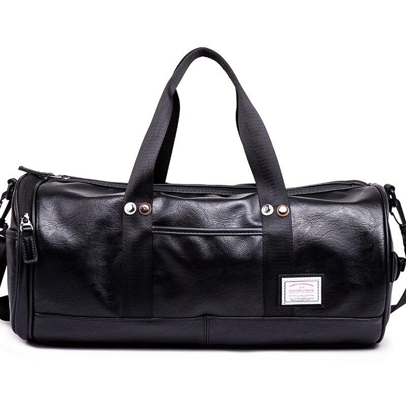 2019 Brand Men Handbag Leather Large Capacity Travel Bag Shoulder Bag Male Tote Travel Duffle Bag Men Casual Messenger Crossbody