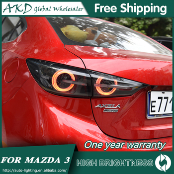 Tail Lamp For Car Mazda 3 Axela 2014-2018 Mazda3 Tail Lights Led Fog Lights DRL Daytime Running Lights Tuning Car Accessories