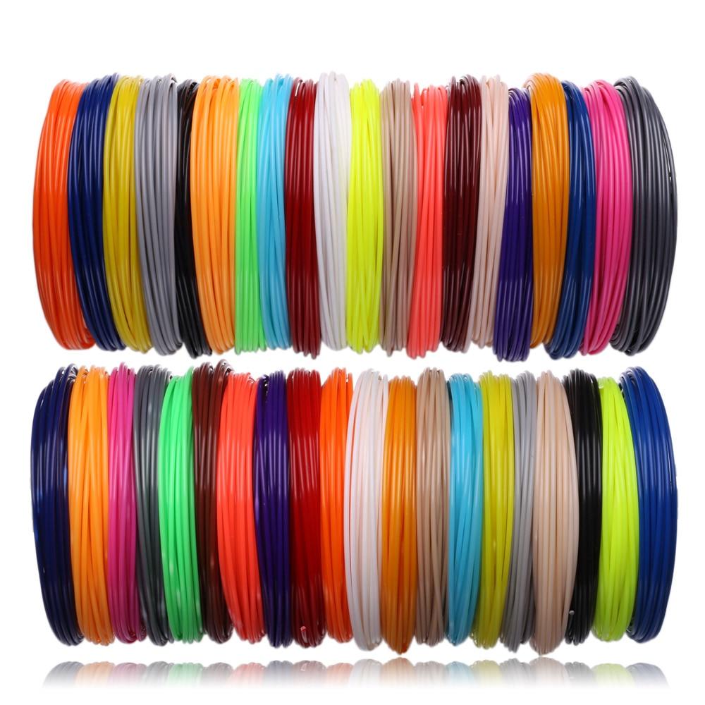 لفات ABS PLA البلاستيك ل ثلاثية الأبعاد القلم 50,100 متر 10,20 لون خيوط ثلاثية الأبعاد مقبض مجموعة 3 د إعادة الملء الاطفال هدايا عيد