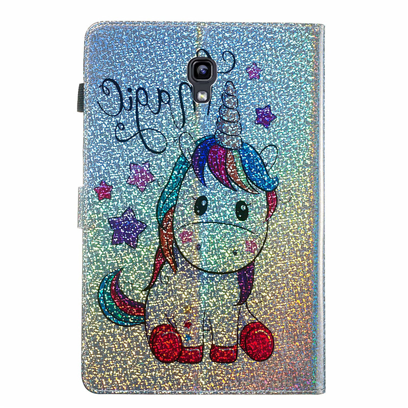 Glitter Diamond Unicorn Leather Case Tablet Case For Samsung Galaxy Tab A 10.5 Inch SM-T590 T595 Magnetic Flip Stand Cover Shell