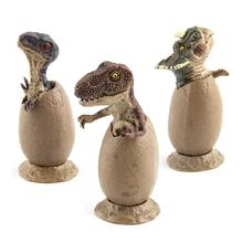Dinosaur Egg Toy Mini Hatch Dinosaurs 3pcs / Set Growing Baby Dinosaur Action Figure For Baby Educational Toy Gift lamwin 6pcs lot plastic dinosaur collection toy set middle hollow realistic model figure dinossauro egg gift with trees