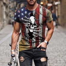 The Latest Models For Summer 2021! Retro Style Printed T-shirt Street Style Round Neck Breathable All-match T-shirt