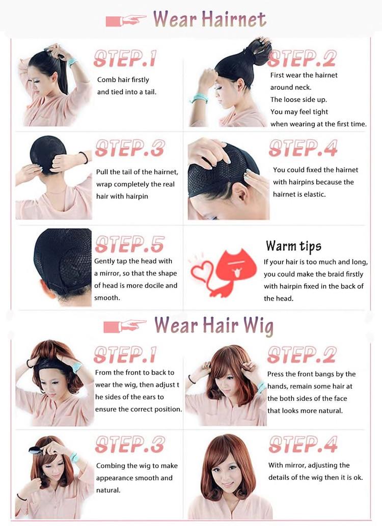 peruca sintética natural falso cabelo estilo romance