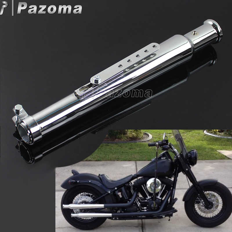 universal motorcycle cocktail shaker slip on muffler tulip end exhaust pipes silencer for harley yamaha triumph bobber chopper