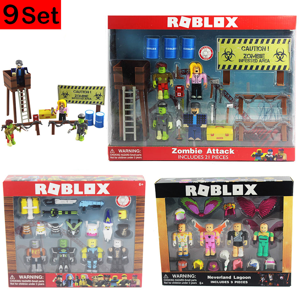 9 Sets Of Robloxer Characters Figure 7-9CM PVC Game Figma Oyuncak Action Figuras Toys Boys Toys For Children Party