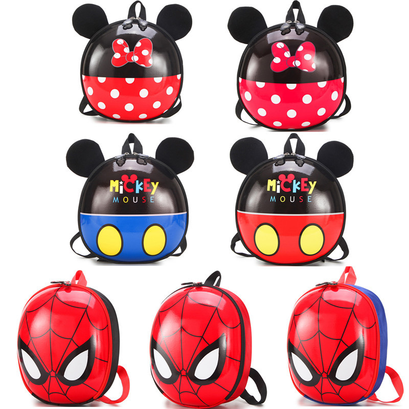 Disney Cartoon Eggshell Bag Girl Korean Children's School Bag 2-5 Years Old Boy Baby Kindergarten Mini Backpack Mickey Bookbag