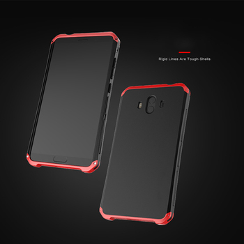 Aug.Upgrade Anti-fall Metal Frame PC Back For Huawei P20 P10 Plus Lite Mate 9 10 30 Honor V30 V8 9X Pro Shell Bumper CASE Cover