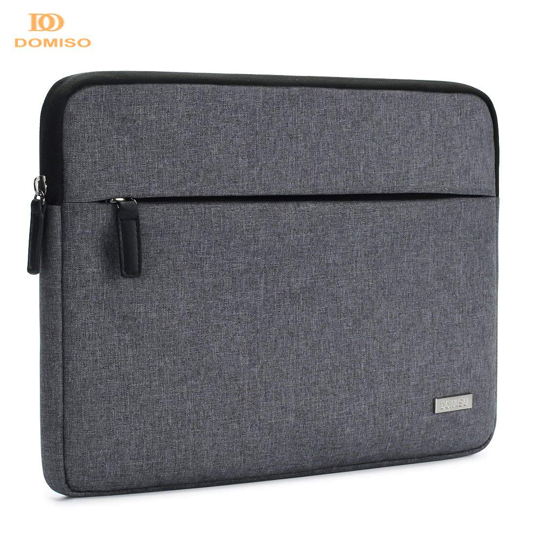DOMISO Canvas Shockproof 10 11 13 14 15.6 Inch Laptop Sleeve Tablet Protective Case Anti-shock Padding Computer Bag Blue Grey