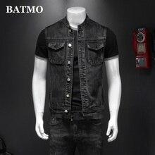 BATMO 2021 new arrival spring&summer high quality denim vest jackets men,male vest,MJ8608