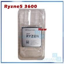 Novo amd ryzen 5 3600 r5 3600 3.6 ghz seis-núcleo processador cpu de doze linhas 7nm 65w l3 = 32m 100-000000031 soquete am4 sem ventilador