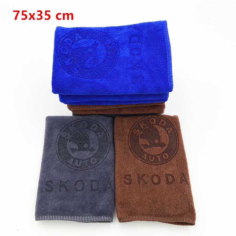 Car Sticker Wash Microfiber Skoda Octavia A5 A7 RS Fabia Superb Towel Car Cleaning For  Auto Styling