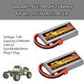 2 шт. обновленная батарея 7 4 V 2700mAH 2S запасная часть для WLTOYS 12428 1/12 RC машинки для детей игрушки для детей