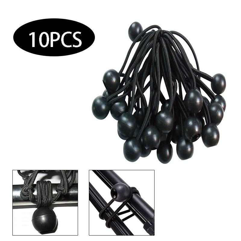 Elastic Rope Black Tent Elastic Fixed Rope 10pcs Sport Elastic Binding Tape Outdoor Supplies Fixing Band Camping Cord Fastener