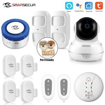 SMARSECUR Home wifi Security alarm siren WiFi Smart Siren Smart life pet-friendly smarsecur home wifi security alarm siren wifi smart siren tuya app smart home