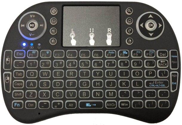 2.4G Không Dây Bàn Phím Tiếng Anh Mini UKB-500 Bàn Di Chuột Chuột Đa Phương Tiện Truyền Thông Điều Khiển Từ Xa Cầm Tay Bàn Phím Chơi Game Cho Tivi Box