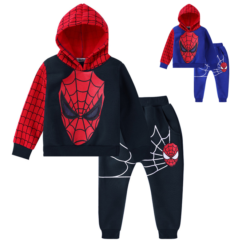 Nuevo Bebé Niños Primavera Otoño Spiderman Traje Deportivo Conjunto Ropa Casual