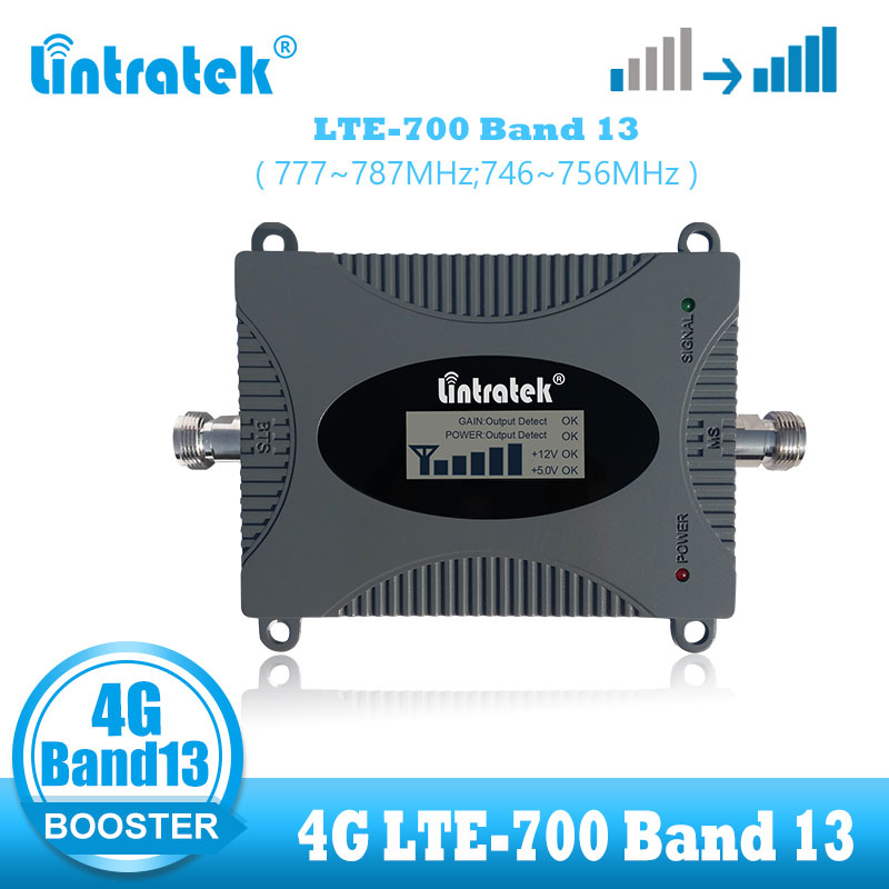 Lintratek LTE 4G Signal Booster Amplifier Band 13 LTE 700MHz Repeater Cellular 4g Internet Signal Amplifier Cellphone Booster