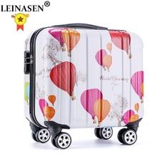 Boarding-Box Trolley-Case Travel-Luggage Universal-Wheel Girl 18-Inches Women Child Cartoon