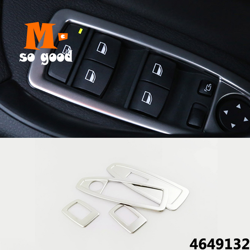 Stainless Door Window Switch Trim Cover FOR <font><b>BMW</b></font> 3 GT <font><b>X1</b></font> 1 3 4 Series F48 F20 F30 F31 F34 F36 Interior Armrest Styling <font><b>Accessorie</b></font> image