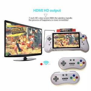 Image 5 - 16BIT HDMI ULTRA SNES TASCHE RETROAD 5PLUS Video Spielkonsole handheld spiel player 7 zoll großen screem 2,4G wireless controller