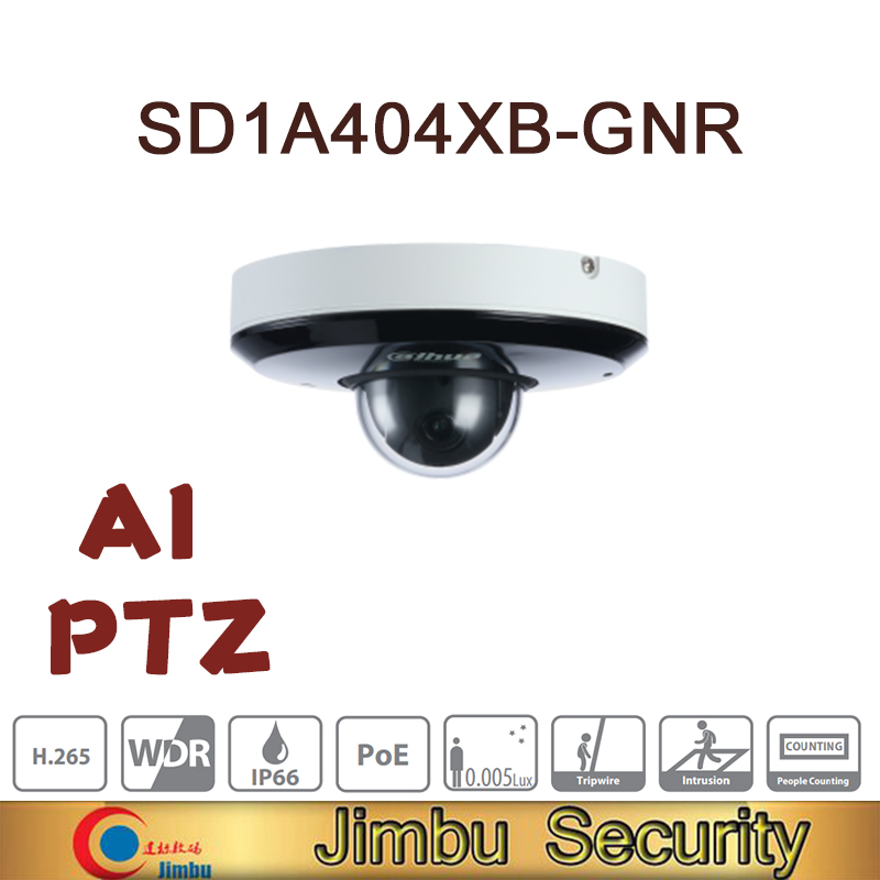 Dahua 4MP 4x Starlight IR PTZ AI Network Camera SD1A404XB GNR IR15 Face Detection People Counting Perimeter ProtectionSurveillance Cameras   -