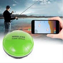 Chamsgend telefone móvel fishfinder sonar sem fio peixe localizador profundidade mar lago peixe detectar ios android app findfish sonar soun