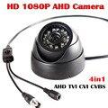 Черный 1080P 4в1 AHD TVI CVI CVBS 1920*1080 2MP камера видеонаблюдения для помещений купольная UTC D/N  с кабелем osd меню