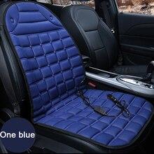 Housse de coussin de siège chauffant pour voiture, housse de coussin de siège pour voiture noire, 12V, coussin pour chauffer lhiver