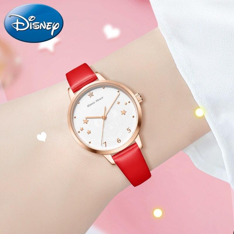 Минни Маус Девочки Любовь Мечта Звезды Сердце Розовый Часы Красивая Леди Милашки Мода Повседневная Часы Дети Вечеринка День рождения Подарок