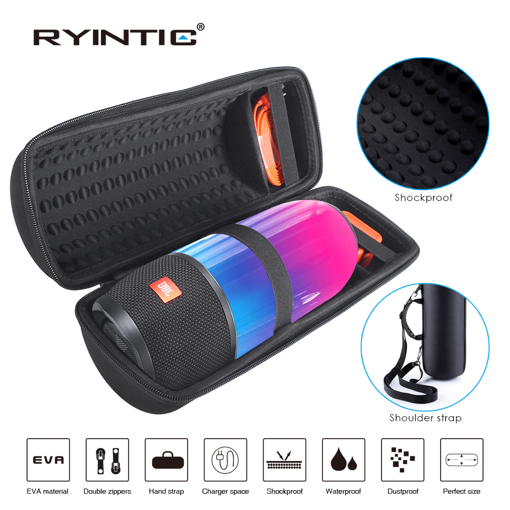 New Travel Hiking Carry Protective Speaker Box Pouch Cover Bag Case For JBL Pulse 3 Pulse3 Speaker Extra Space For Plug&Cable