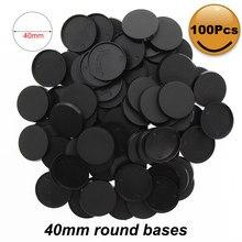 Mb432 40 pces/60 pces/100 pces 32mm bases plásticas dos jogos da tabela das bases modelo 32mm bases redondas